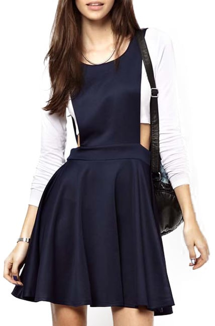 Chicnova Dark Blue Overall Dress