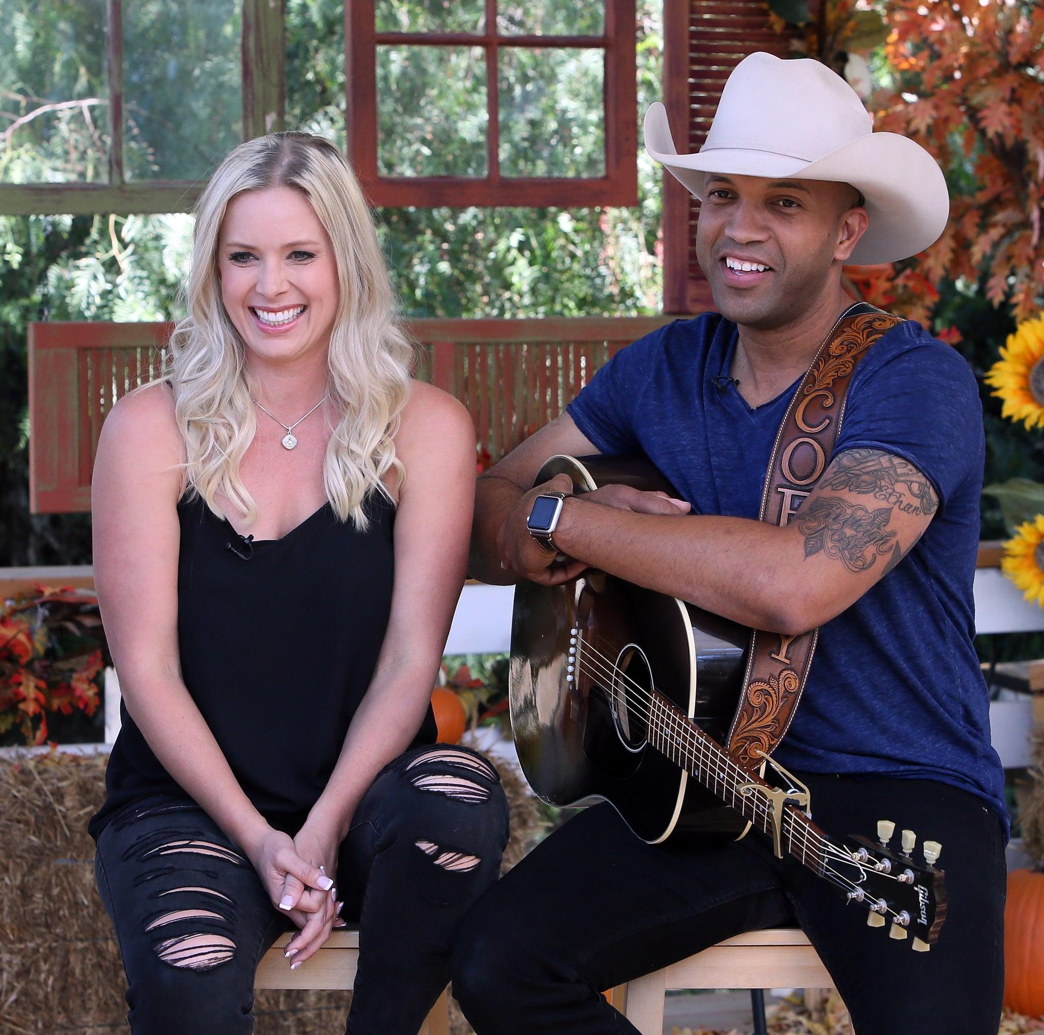 UNIVERSAL CITY, CA - OCTOBER 10:  Singer Coffey Anderson (R) and wife Criscilla Crossland Anderson attend Hallmark's