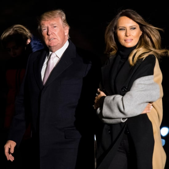Melania Trump's Camel Colorblock Coat