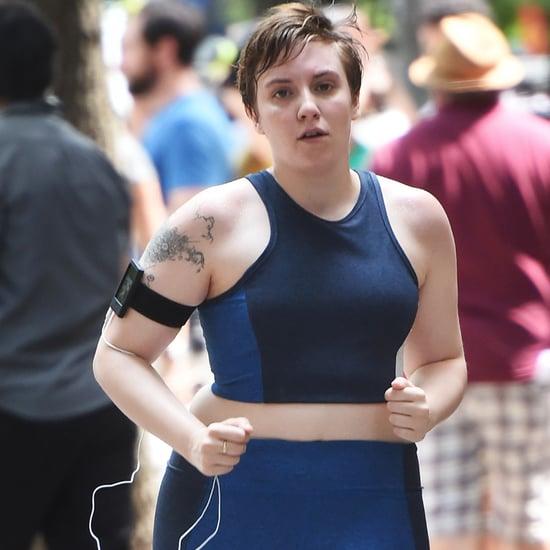 Lena Dunham Running on Girls Finale