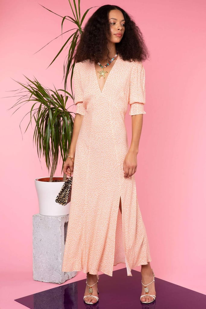 Pink Bridesmaid Dress: Rixo Martha Midi Dress