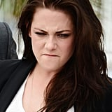 Kristen Stewart made a funny face at the On the Road photocall at the Cannes Film Festival.