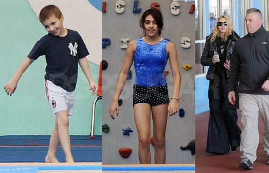 Photos of Madonna, Lourdes Leon, Rocco Ritchie at Chelsea Piers Gym in NYC