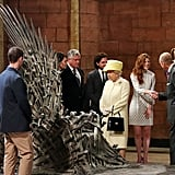 The Queen Checked Out the Iron Throne
