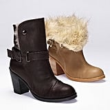 This Colin Stuart Faux-fur Foldover Bootie ($98) can be styled two ways: folded up or folded down. Either way, the faux fur shearling will keep your feet toasty all season long.