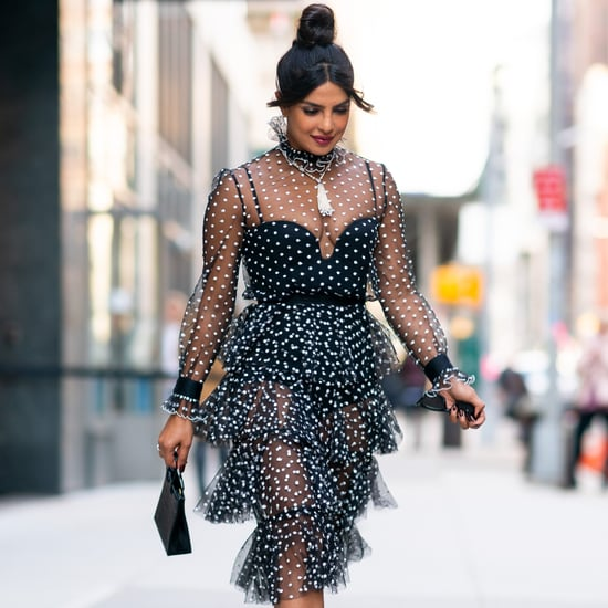 Priyanka Chopra's Sheer Polka-Dot Dress