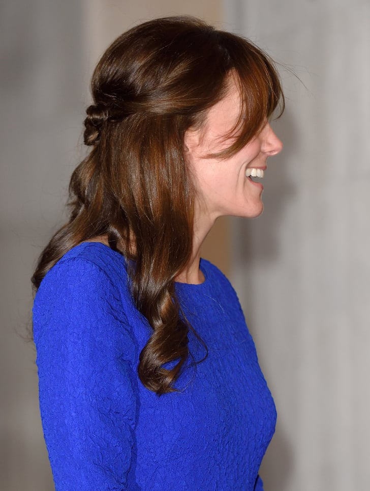 kate middleton halfup hair idea popsugar beauty photo 3