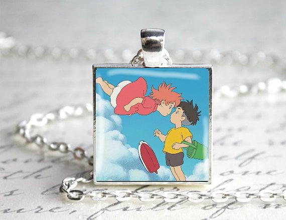 Ponyo and Sosuke Pendant Necklace