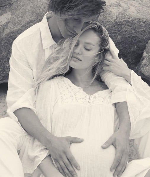 Candice Swanepoel Pregnancy Style on Instagram