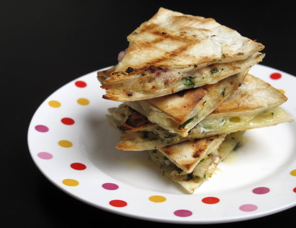 Turkey and Cranberry Sauce Quesadillas