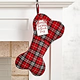 Plaid Dog Bone Stocking