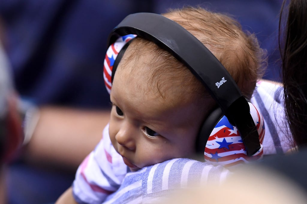 "Michael Phelps may have won gold at the Summer Olympics in Rio de Janeiro, Brazil, on Monday, but it was his 3-month-old son Boomer that won our hearts. During Michael's 4x100m freestyle relay, his family — which included his mom, Debroah, and fiancée Nicole Johnson — attentively took in the match and cheered him on from the stands, while little Boomer nearly stole the show with his cute looks and Team USA-themed outfit. The following day, the brood returned to watch Michael take home his 21st medal, and the cute moments continued when photographers caught him kissing Boomer after the match.  Throughout the week, Nicole has been taking to Instagram to document Boomer's first time in Brazil, and on Sunday, she uploaded a precious snap of him laughing, writing, ""I'm ready to see some more fast swimming!! Go get em daddy!!! Go get em USA!!! #usa #rio2016."" Check out even more gold-medal-worthy pics of Michael's adorable baby boy."