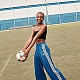 Adidas Satin Wide-Leg Track Pant
