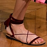 A velvet-roped sandal that looks just as fancy as heels.