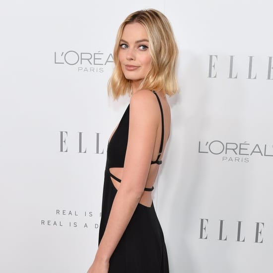 Margot Robbie Black Cut-Out Dress