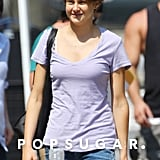 Shailene Woodley revealed a shorter haircut while on the set of The Fault in Our Stars.