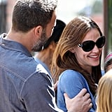 Ben Shows Sweet PDA With Jen on a Family Outing