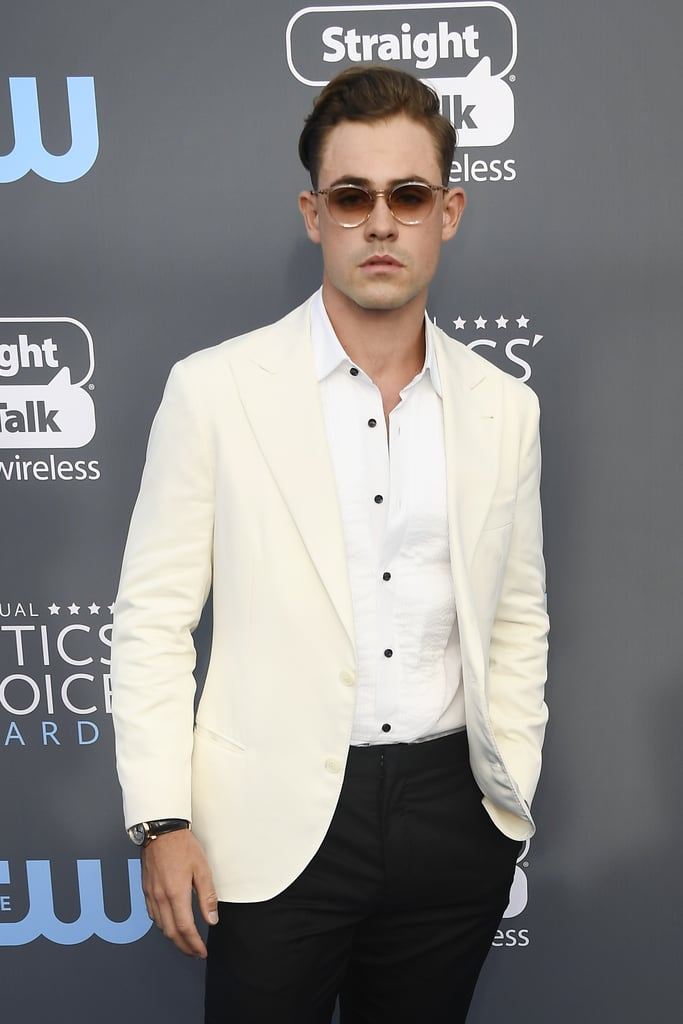 If at first glance you didn't recognize Dacre Montgomery without his Stranger Things mullet, you're not alone. The actor, who plays  Billy on the hit Netflix show, looks pretty much unrecognizable without the signature 'do. That being said, we can only assume all eyes were on him while he walked the blue carpet at the Critics' Choice Awards on Thursday night (for obvious reasons). Mullet or no mullet, the Australian actor had us blushing as he posed for photographers and sidled up to costar Joe Keery, and later presented with Natalia Dyer. Check out more photos ahead!      Related:                                                                                                    The Cast of Stranger Things Wears Their Hawkins Best to the Golden Globes