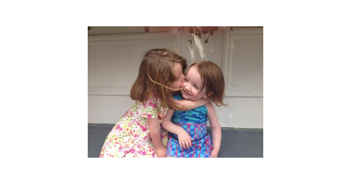Satyana and Keeva Denisof shared a smooch for their mom ...