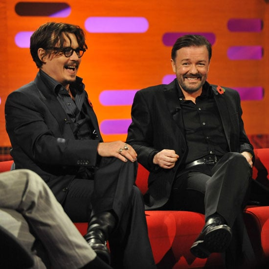 Ricky Gervais and Johnny Depp laughed out loud as guests on The Graham Norton Show.