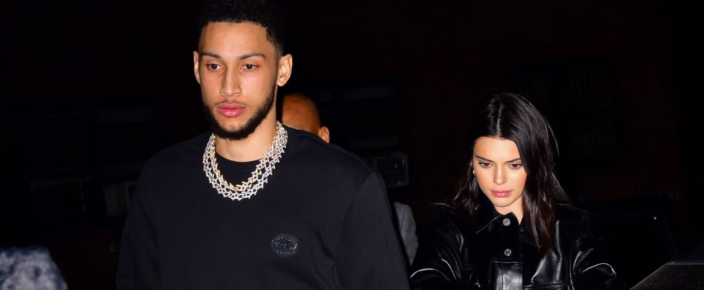 Kendall Jenner in Fuzzy Heels With Ben Simmons February 2019