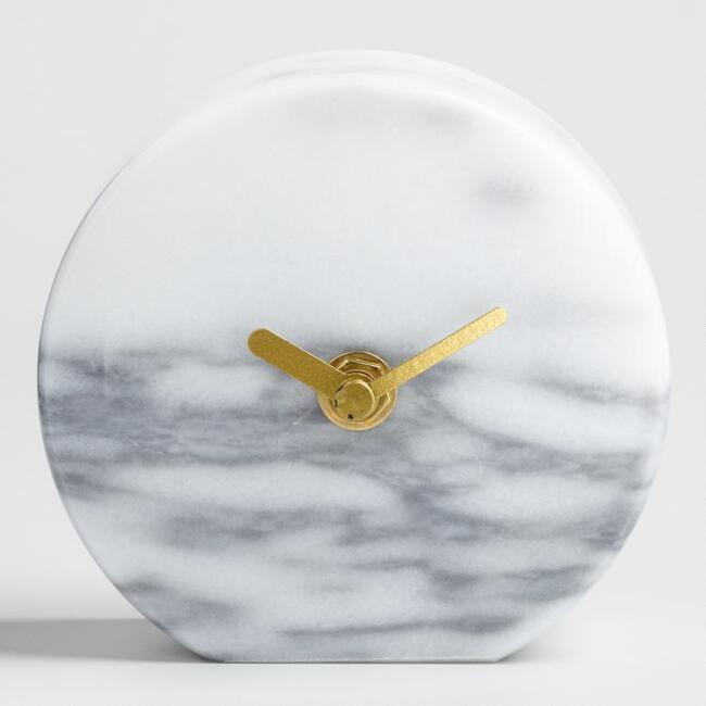 Marble Tabletop Clock