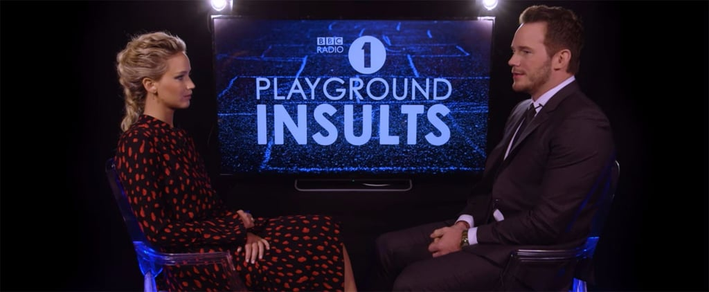 Chris Pratt and Jennifer Lawrence Playground Insults Video