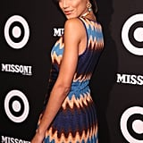 Selita Ebanks gave a seductive stare for the cameras.