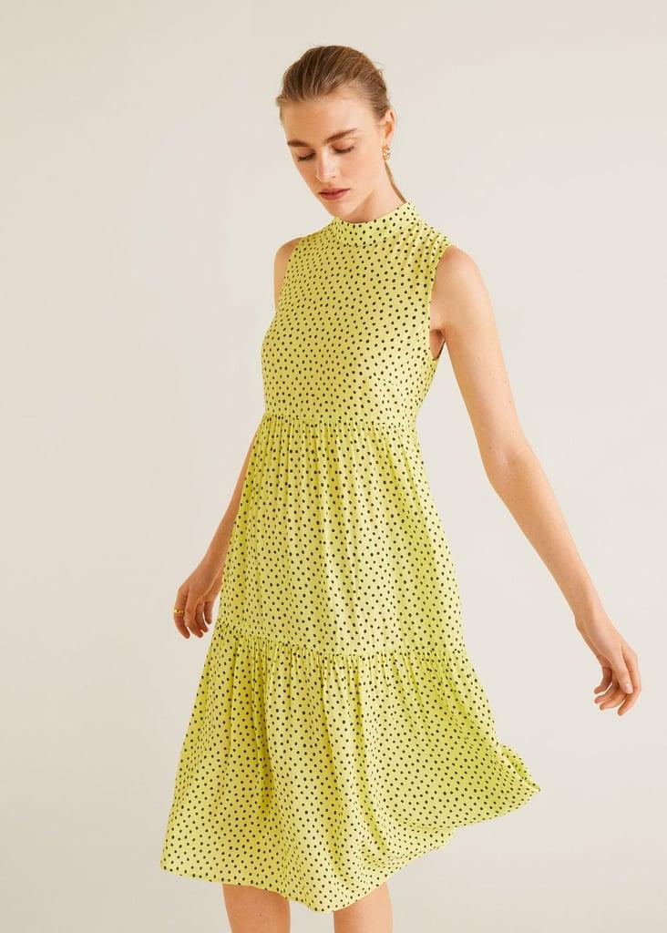 Mango Perkins Neck Dress
