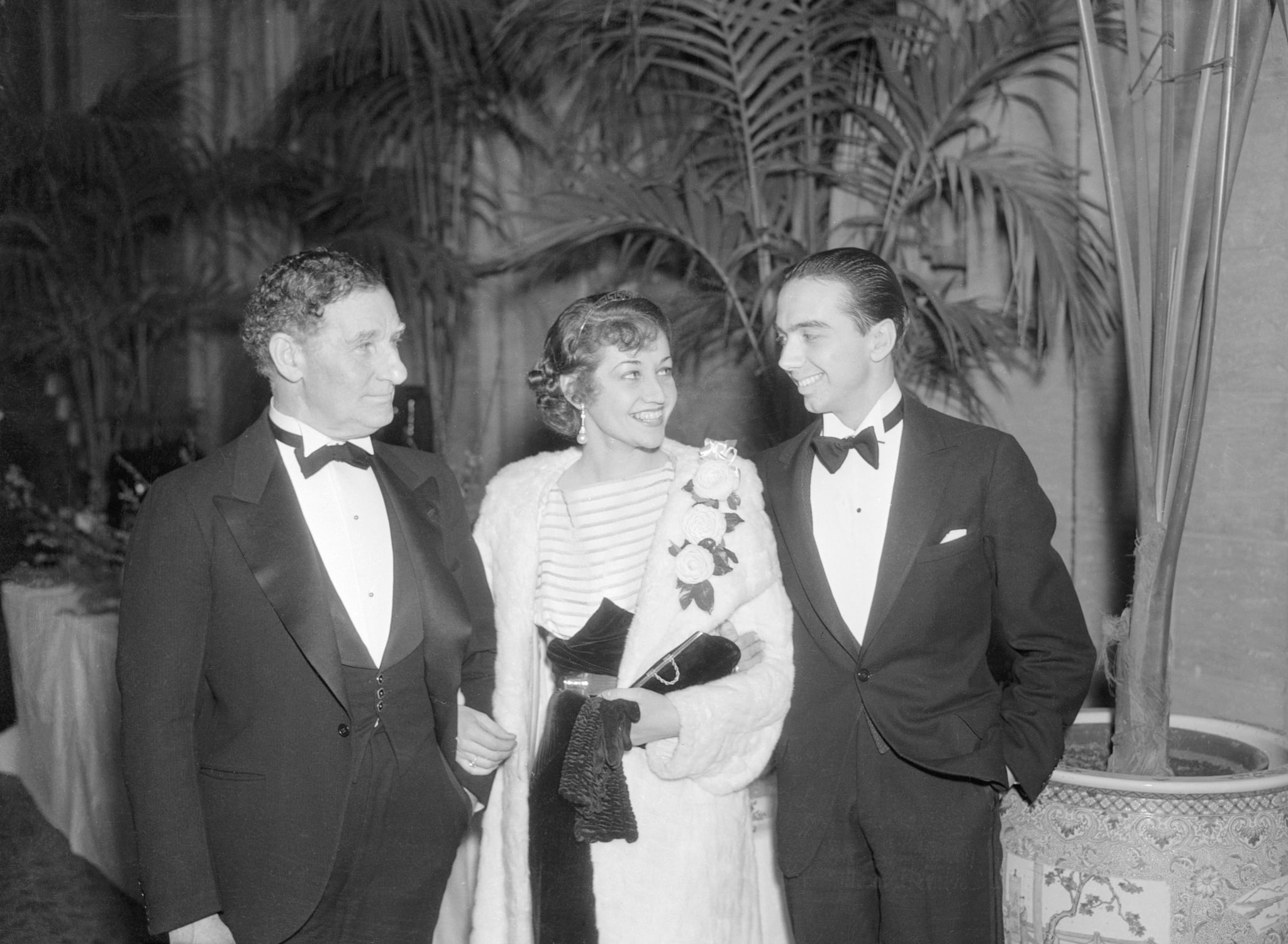 (Original Caption) Troth to Henry Willson denied by Paula Stone daughter of Fred Stone. Ah said the Hollywood heartstring-tuners when they saw Paula Stone daughter of Fred Stone, veteran actor now starring in pictures, at the Academy of Motion Picture Arts and Sciences dinner with Henry Willson, film writer and Actor's agent.
