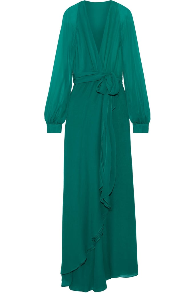 Haney Coco Silk Wrap Maxi Dress