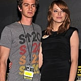 Andrew Garfield and Emma Stone were in attendance at Friday's Comic-Con panel.