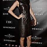 Showing her support for Givenchy, Nicole donned a sleek leather dress from the design house during Paris Fashion Week in March 2011.