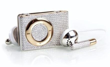 Luxurious Geek: Gold and Diamond iPod Shuffle