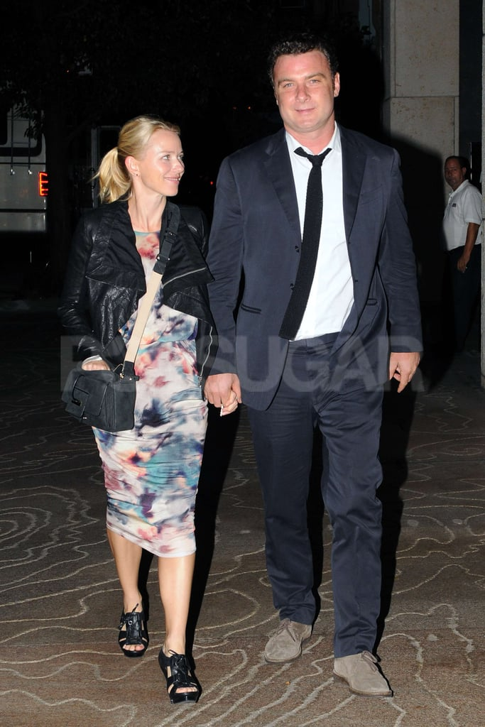 Naomi Watts and Liev Schreiber walked together NYC.