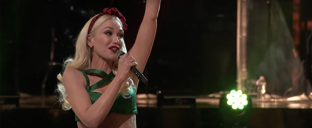 Gwen Stefani's Christmas Tree Dress on The Voice Finale