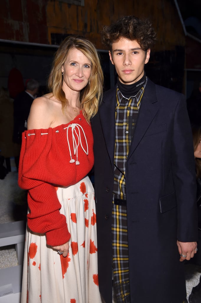 "Laura Dern stepped out with her handsome son Ellery Harper at the Calvin Klein runway show on Wednesday, but he wasn't her date — technically, the 16-year-old aspiring model and fashion designer brought her as a plus-one. ""Really I'm attending with Ellery, who is an invited guest of Raf [Simons] — they have a beautiful connection,"" the Big Little Lies star told WWD at the show. Ellery added that the Calvin Klein designer originally asked him to walk in the show, but that his dad, musician Ben Harper, ""had different opinions."" ""He wanted him to wait a little bit more,"" Laura chimed in. Inside the popcorn-covered event, Laura and Ellery sat front row and met up with her Big Little Lies costar Nicole Kidman, as well as Margot Robbie and actor Kyle MacLachlan. Ellery and his 13-year old sister Jaya have been making more and more appearances with their famous mom, especially during award season. They were on hand to see Laura win an Emmy in 2017, and Jaya also accompanied her mom to the SAG Awards in January, where she was nominated for her role on the hit HBO series. Keep reading to see photos from Ellery and Laura's sweet mother-son date."