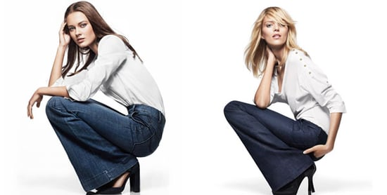 Get Your Flares On With GAP's S/S 2011 70s Inpsired Denim, starring Anja Rubik and Jac Jagaciak