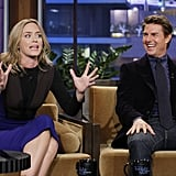 Emily Blunt and Tom Cruise shared the stage on The Tonight Show.