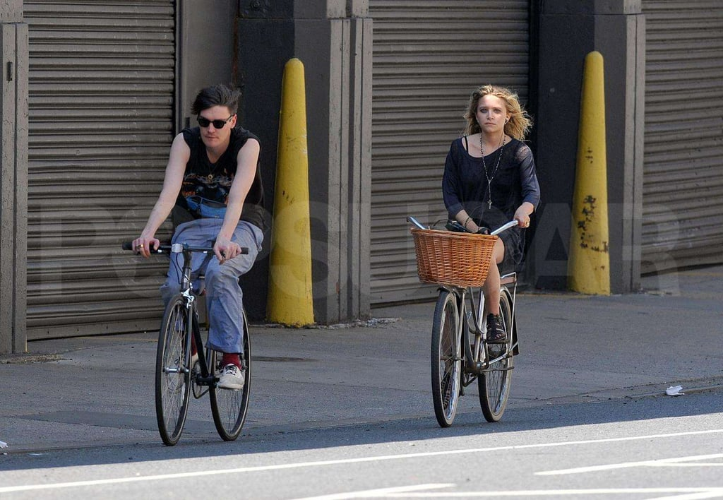 Mary-Kate Olsen Biking with Nate Lowman