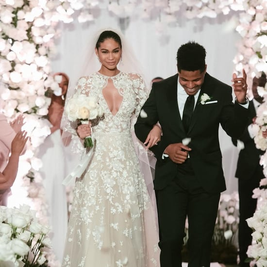 Chanel Iman Zuhair Murad Wedding Dress