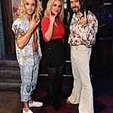 Britney Spears posed with two Rock of Ages cast members.