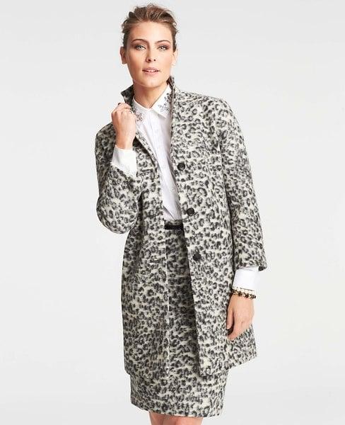 Ann Taylor Animal Jacquard Coat ($225, originally $278)