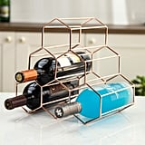 Exilot 6-Bottle Metal Wine Rack