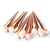 Rose Gold Unicorn Makeup Brushes Set
