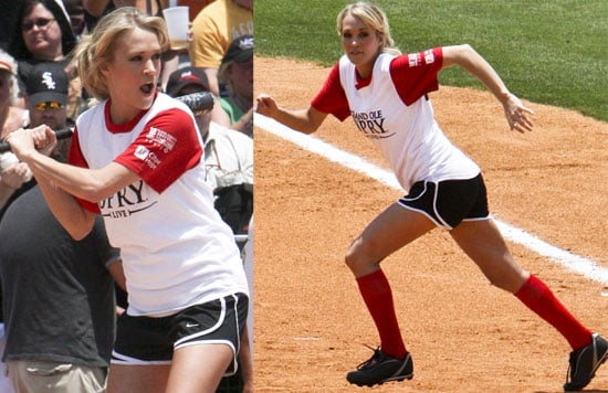 Photos of Carrie Underwood Playing in a Celebrity Softball Game