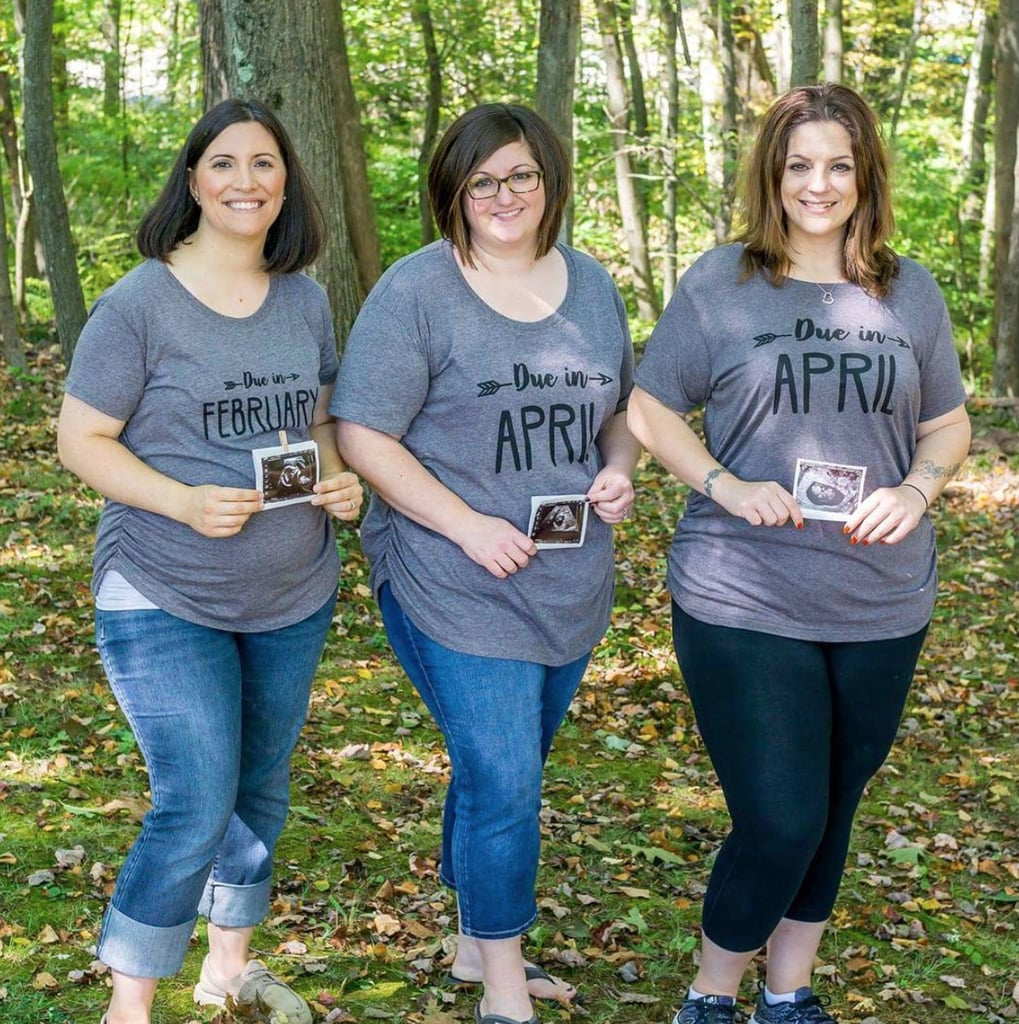 We love these matching due date shirts!