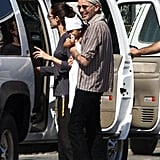Angelina Jolie and then-husband Billy Bob Thornton were in Africa in March 2002 with newly adopted Maddox.
