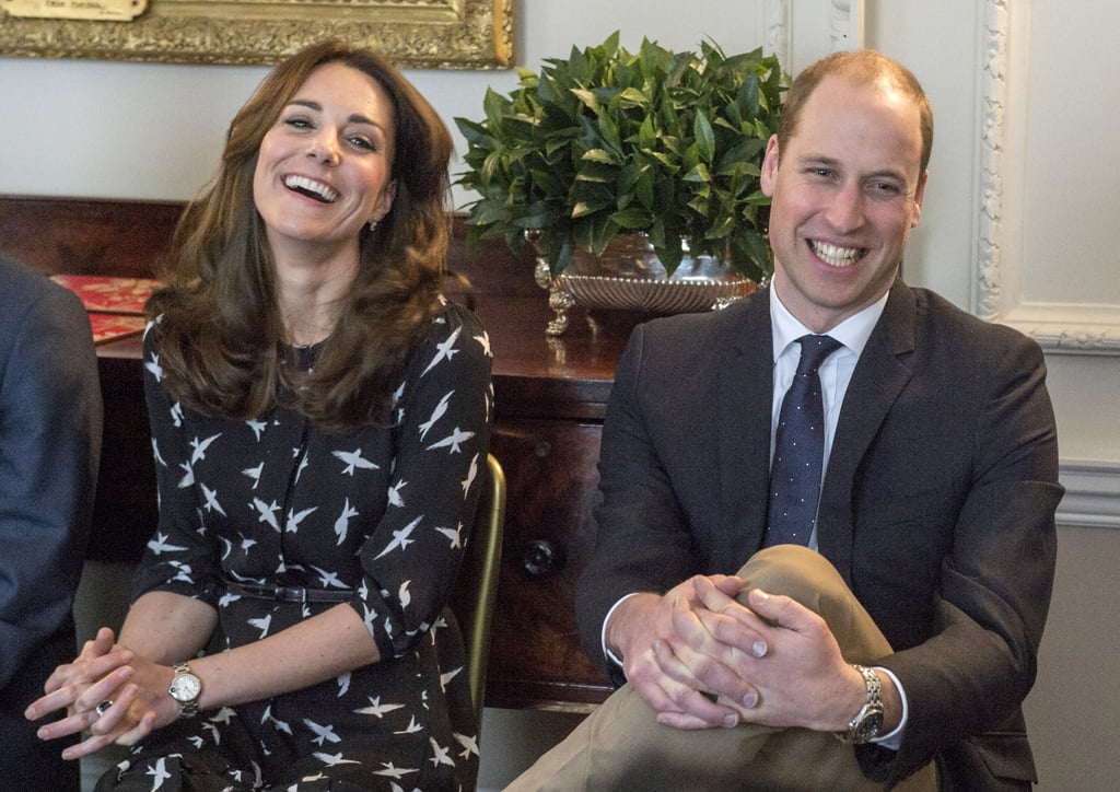 They've Enjoyed a Laugh While Rocking Prints on Dresses and Ties