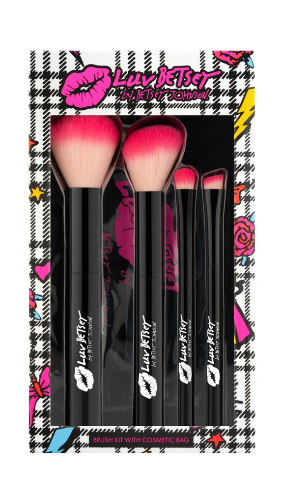 Luv Betsey by Betsey Cosmetics Brush Kit With Cosmetic Bag